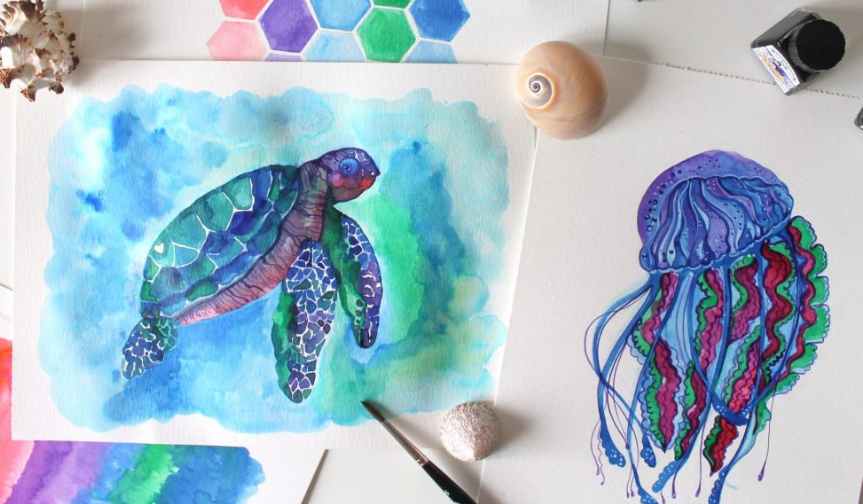 How to create a marine illustration